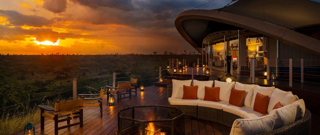 mahali-mzuri-camp-exterior-sunset